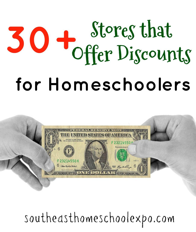 30 Stores That Offer Discounts To Homeschoolers Homeschool Discounts Homeschool Teacher Discounts [ 1540 x 1300 Pixel ]