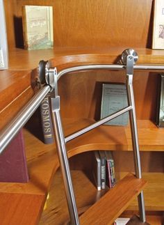 Curved Track For Library Ladder Google Search Library Ladder Kitchen Ladder Sliding Ladder Bookshelf