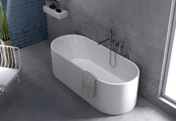 Vasca Da Bagno Ovale Incasso : Vasca da bagno realizzata in pietraluce materiale resistente che