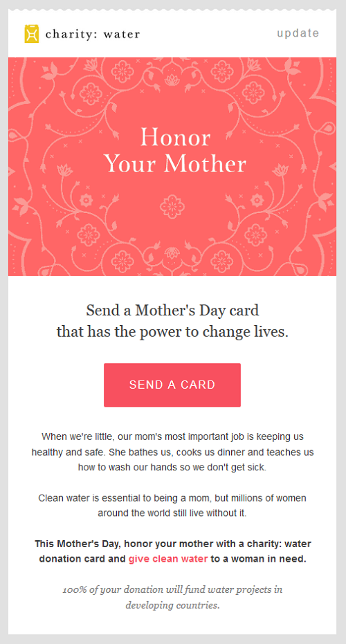 An Inspiring MotherS Day Campaign By Charity Water  Simply