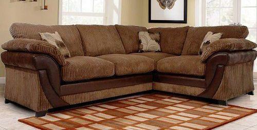Lush 2c1 Corner Sofa Formal Back 549 Brown Large Sofa Corner Sofa Living Room Designs