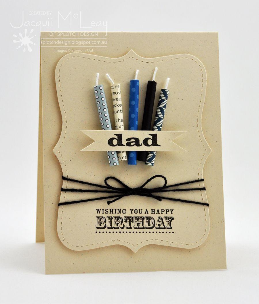 Splotch Design Jacquii McLeay Stampin Up Dads