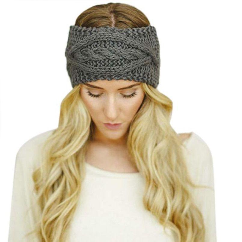 Click to Buy << Hot Sale Fashion Women Crochet Headband Turban Lady ...