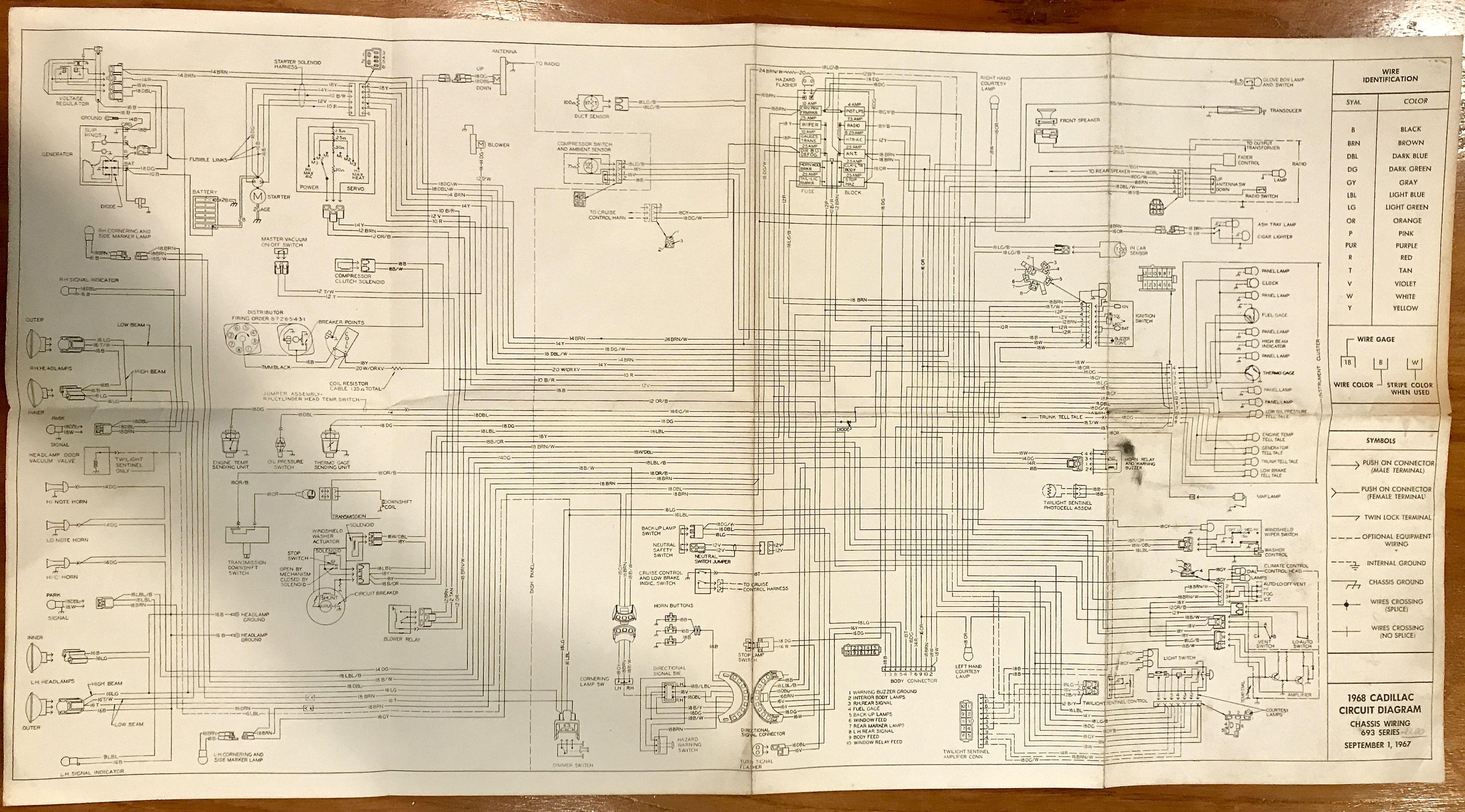1968 air conditioned cadillac vacuum circuit diagram   cars, Wiring diagram