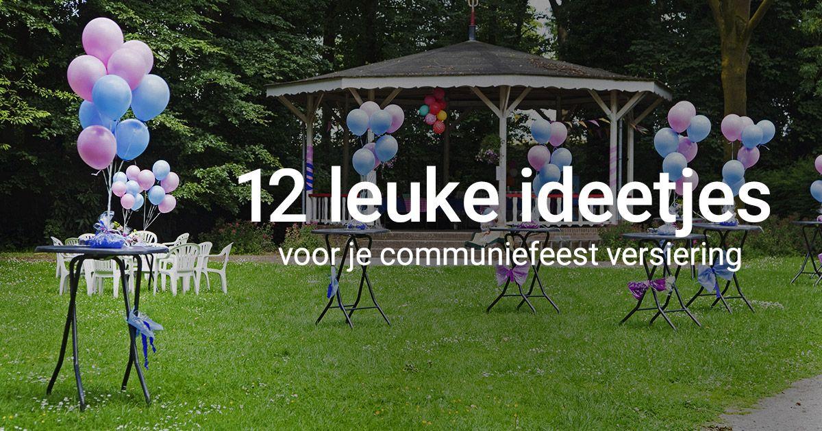 12 leuke ideetjes voor je communiefeest versiering for Leuke versiering