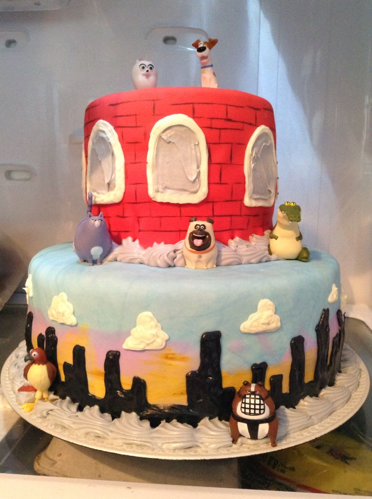 Secret Life Of Pets Birthday Cake