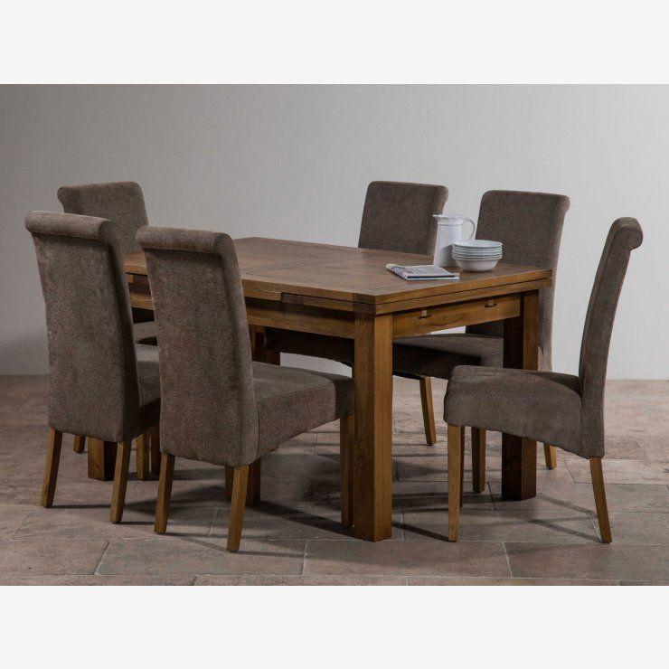 8e956af715 Rustic Solid Oak Dining Set - 4ft 7