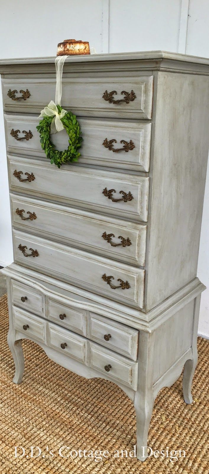 D d 39 s cottage and design grey french provincial chest on - Average price to paint a bedroom ...