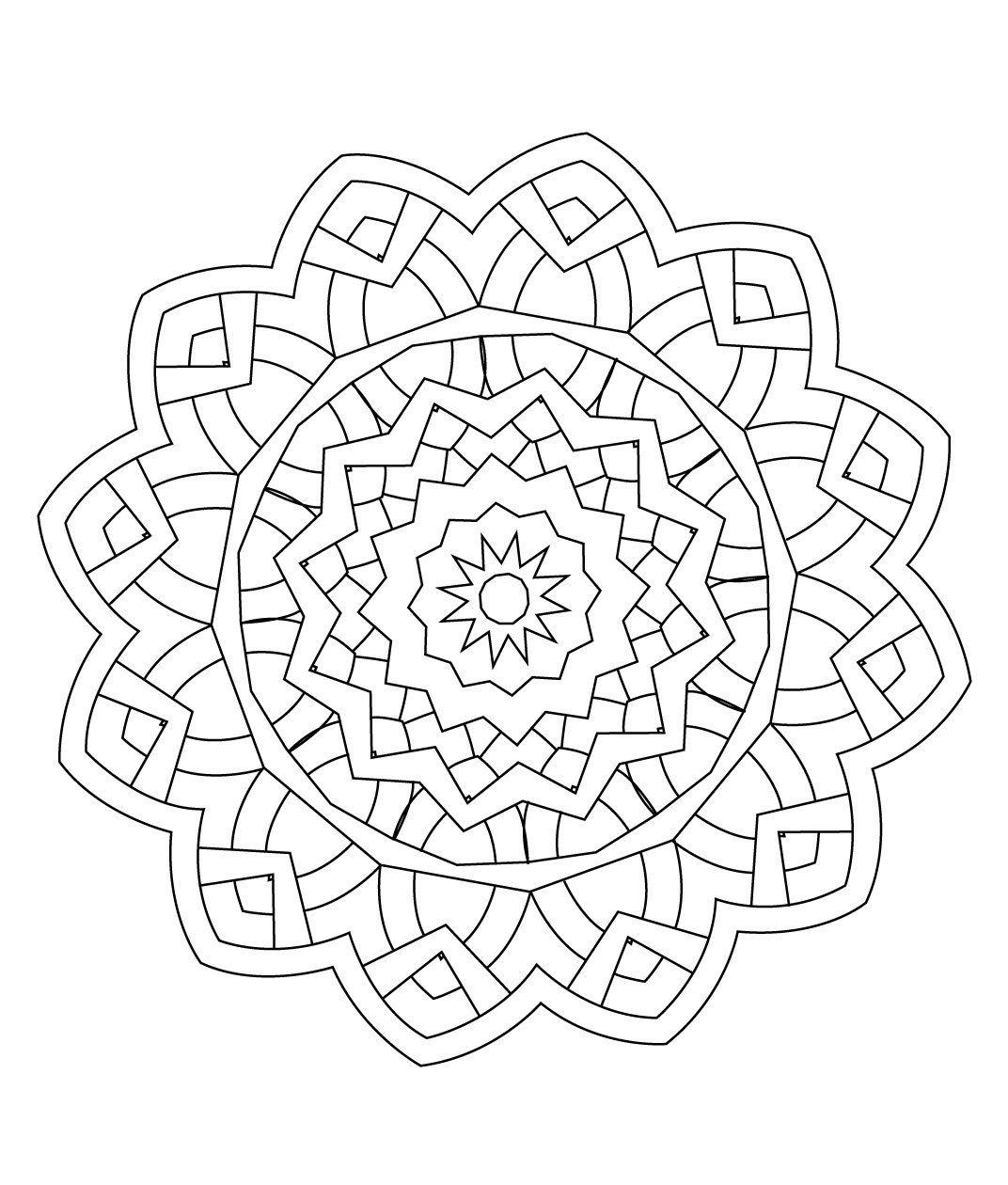 Stci coloriage pour adultes et enfants mandalas mandalas pinterest mandalas adult - Dessin mandela ...