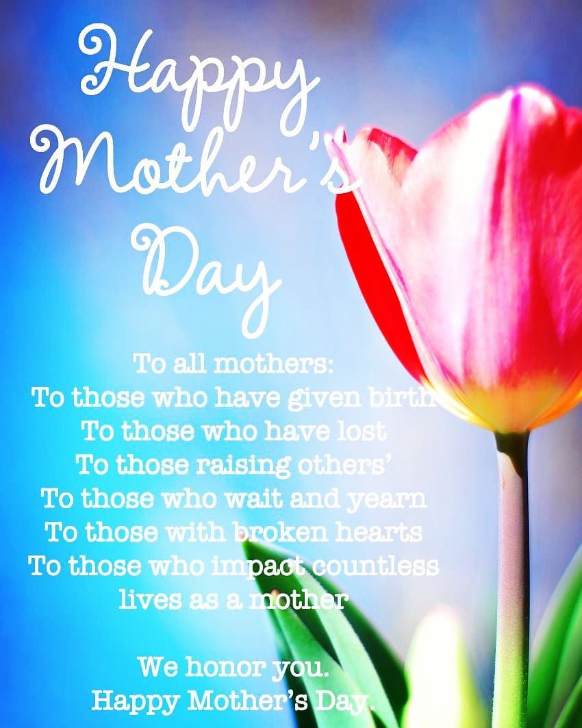 We Pray You Have A Wonderful Day You Are All Appreciated For All That You Do Happy Mothers Day Messages Happy Mother S Day Mother Day Message