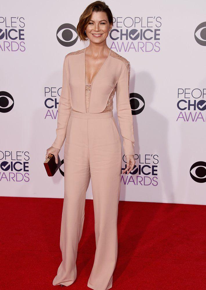 Toller Red Carpet Look: TV-Star Ellen Pompeo kam im Overall von Elie Saab