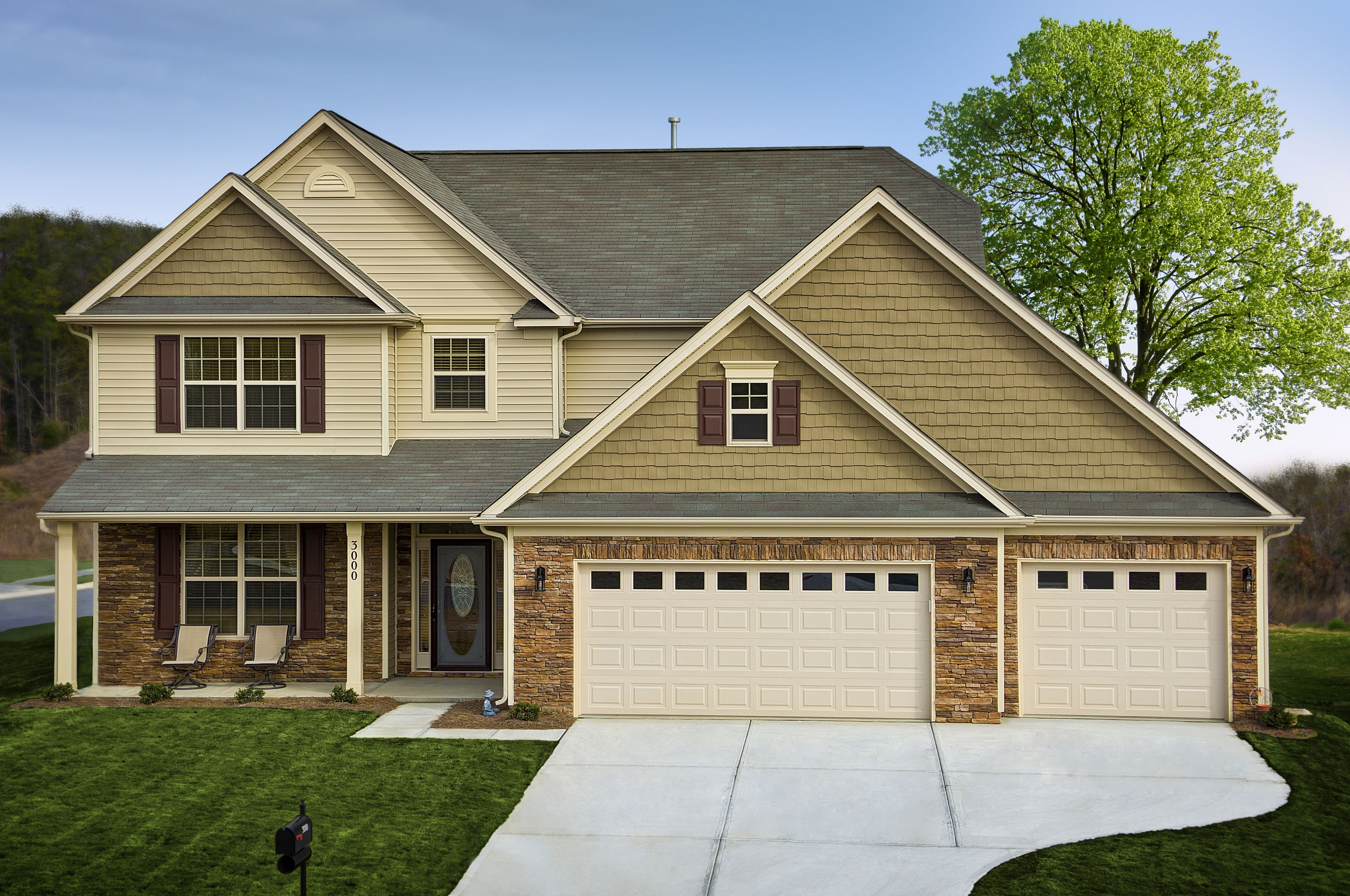 New Home in Charlotte NC Third Car Garage