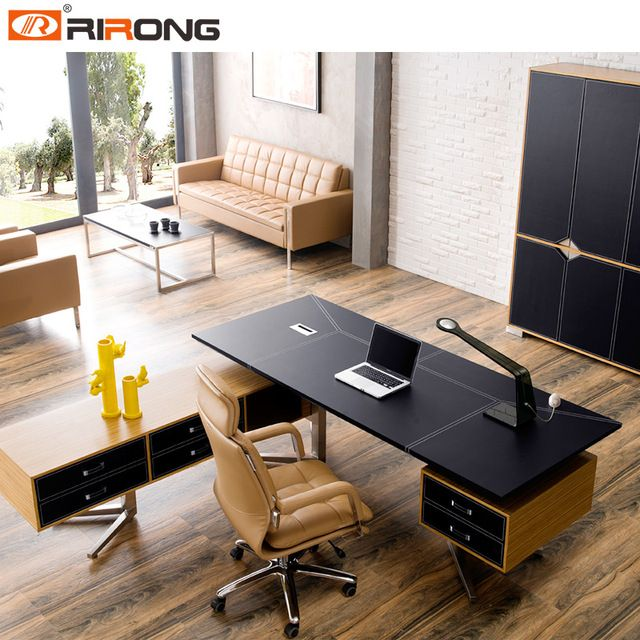 24 Luxury And Modern Home Office Designs: Source New Design MDF Luxury Wood Table Modular Office