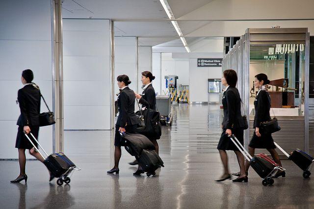 Resultado de imagem para flight attendant in airport