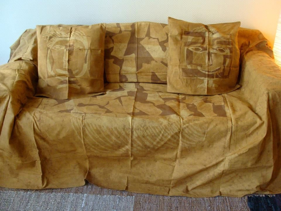 Jete De Canape En Tissu Teinte By Ekabo Design Burlap Pillows Burlap Pillows