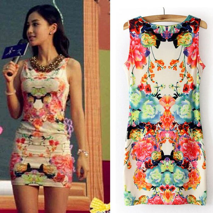 New design Women Floral Print Sleeveless Clubwear Party Summer ...