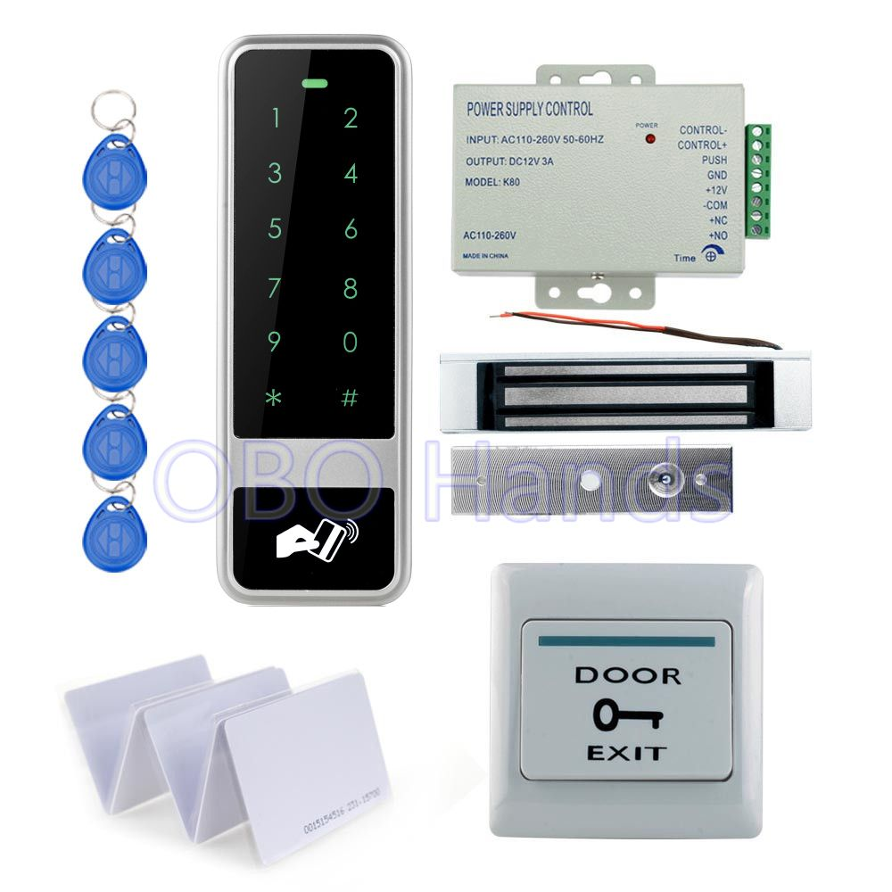 Electric Door Access Control System Keypad Keyfob Rain Cover Kit Set Waterproof
