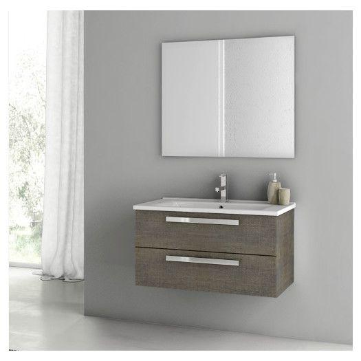 "ACF Dadila 22"" Single Bathroom Vanity Set with Mirror | AllModern"