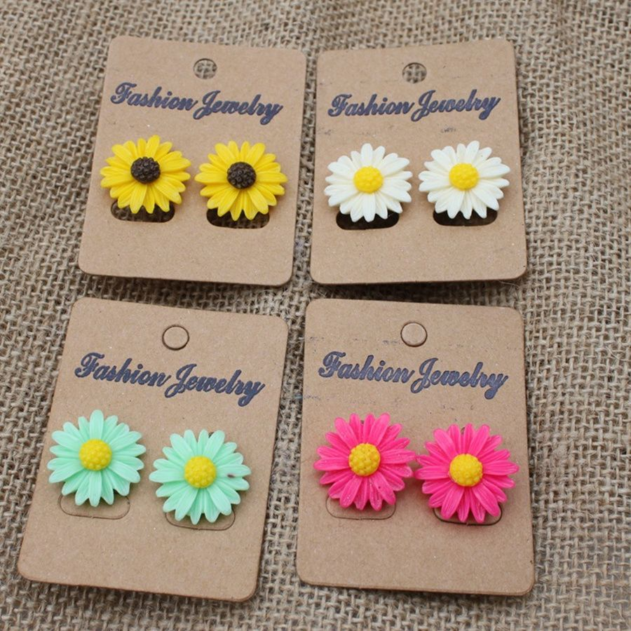 Popular hot style of wholesale 59 pairs delicate chrysanthemum earrings concise style prevent allergy stud earrings