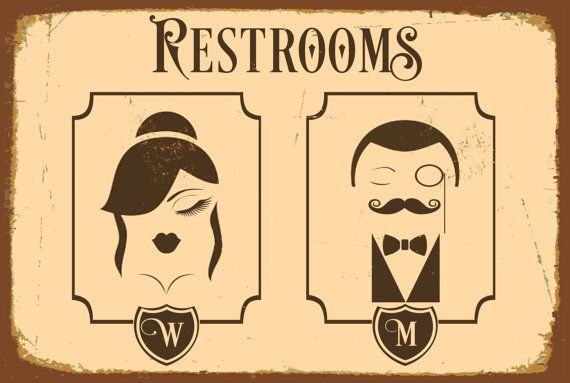 RESTROOM SIGN Restroom Signs Toilet Sign Male Par ClassicMetalSigns