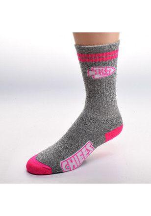 103216bd Kansas City Chiefs 2 Stripe Melange Womens Crew Socks | NFL - Kansas ...