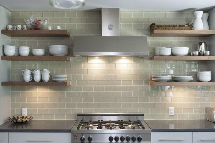 Full Wall Backsplash Open Shelving Google Search Open Kitchen