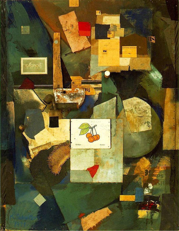 """alfiusdebux: """"Kurt Schwitters. Cherry Picture, 1921 """""""