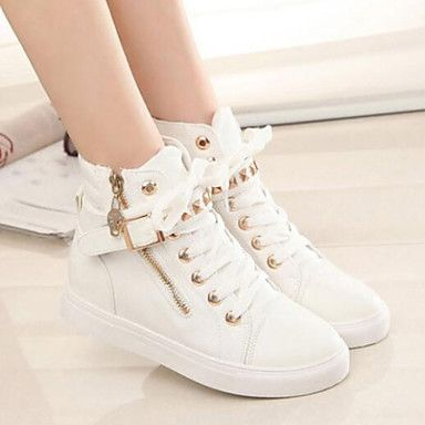 Shoes For Women Lace Low Heel Round Toe Fashion Sneakers Casual More Colors Available