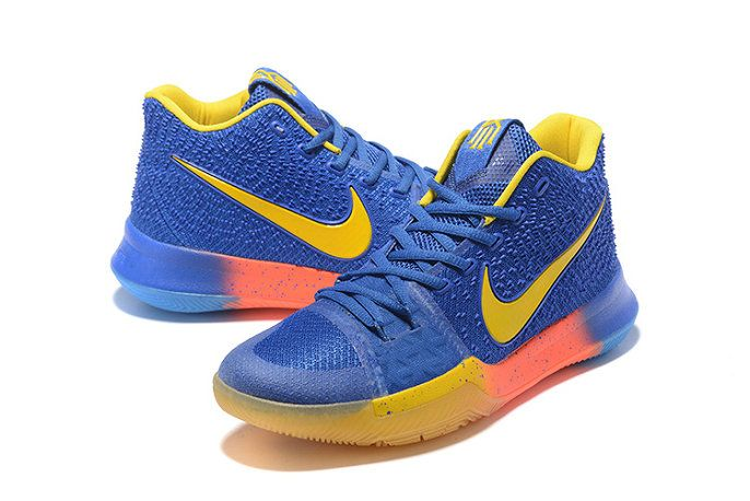 New Arrival Cheap Kyrie Irving 3 Royal Blue Sonic Yellow Laser Orange