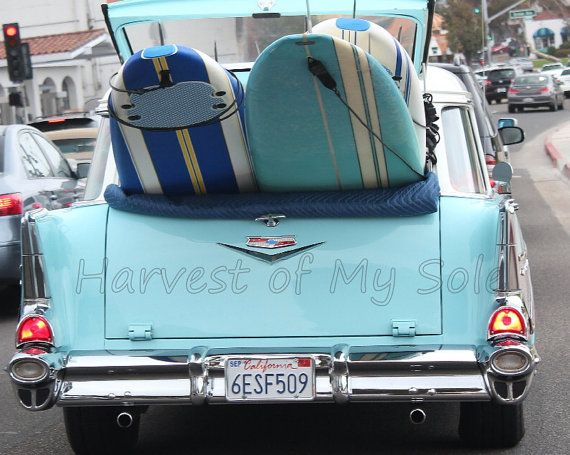 1955 Chevrolet Nomad Station Wagon With Surf Boards 1955
