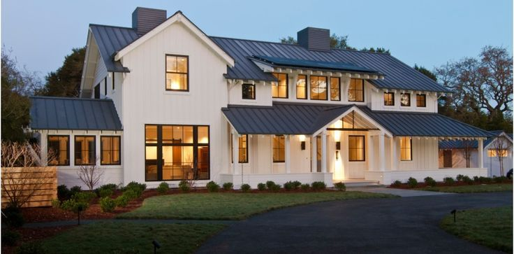 Modern farmhouse floorplans google search modern for Contemporary farmhouse house plans