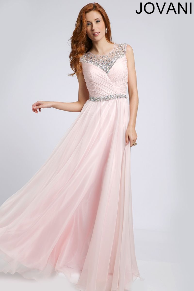Crystal embellished prom gown prom dresses prom