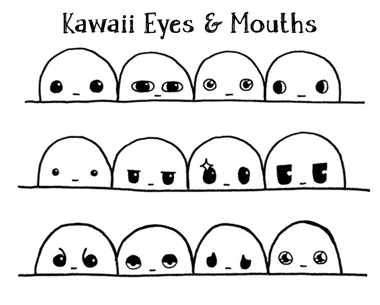 The Secret To Drawing Kawaii Eyes And Mouths From Memory With 74