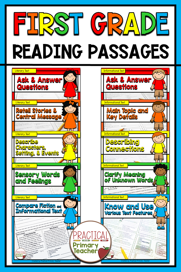 Reading Passages And Questions Standards Based Reading
