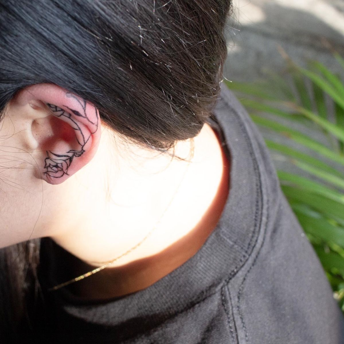 Ear line tattoo in 2020 nature instagram line tattoos