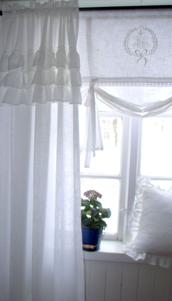 Carol Weiss Vorhang Gardine 120x240 Volant Landhaus Shabby Chic