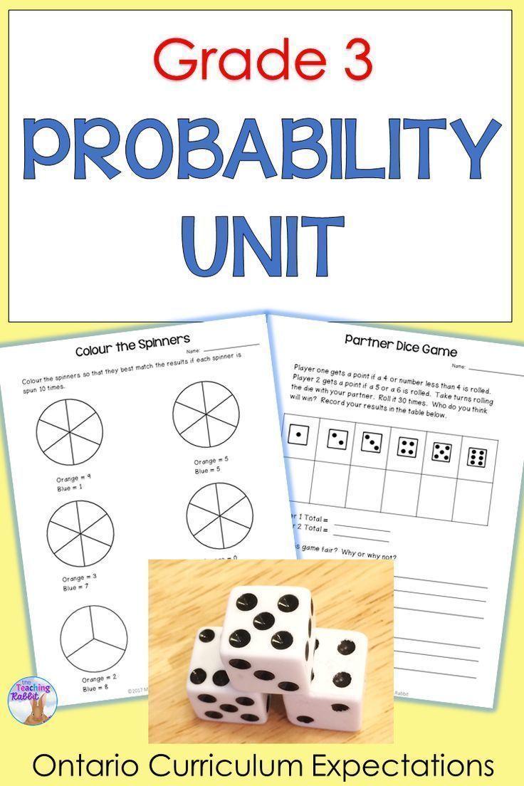 Probability Unit for Grade 3 (Ontario Curriculum) | Pinterest ...