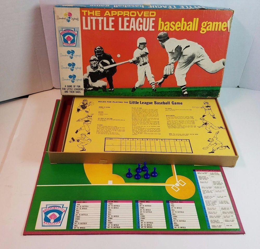 Vtg Standard Toykraft The Approved Little League Baseball Board Game Complete Little League Baseball Little League Board Games