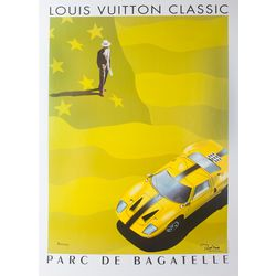 Authentic PreOwned® Louis Vuitton Ford Original vintage poster hand signed by the artist Razzia. Archivally mounted on linen.