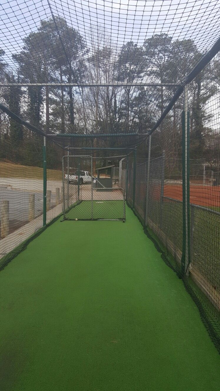 baseball batting cage custom made frame and netting batting cage