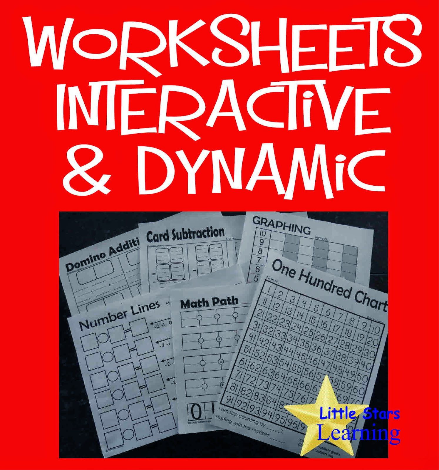 Interactive and dynamic math worksheets. Who says they have to be ...
