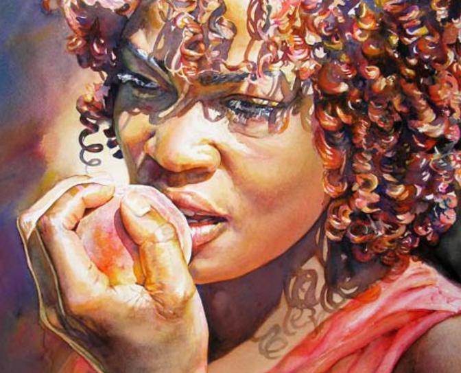 Catherine La Rose Poesia Pittura Arte Fotografia Letteratura Watercolor Portraits Afrocentric Art Art