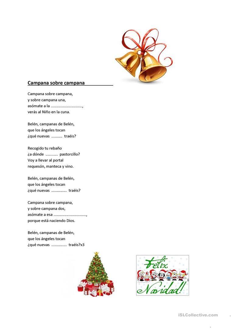 Villancicos De Navidad Letras De Canciones 39260 1 Jpg 763 1079 Teaching Spanish Spanish Teaching