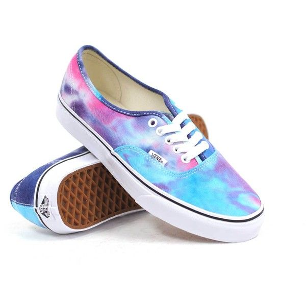 Vans Authentic (Tie Dye Pink Blue) Women s Shoes featuring polyvore ... 9deb680b39
