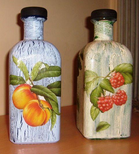 Manualidades con botellas de vidrio buscar con google - Manualidades con botellas de cristal ...