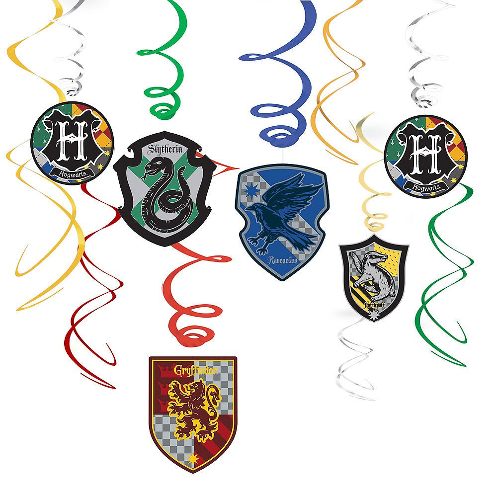 Harry Potter Swirl Decorations 12ct Harry Potter Party Supplies Harry Potter Birthday Party Harry Potter Birthday