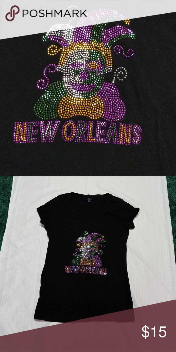 New Orleans Mardi Gras Tee Shirt Women's size large. Cool New Orleans Mardi Gras…