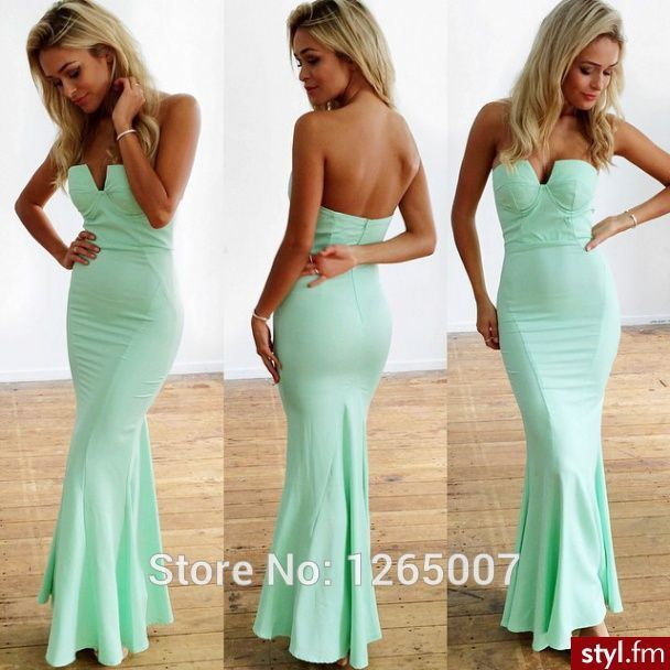 Tight Fitted Long Prom Dresses