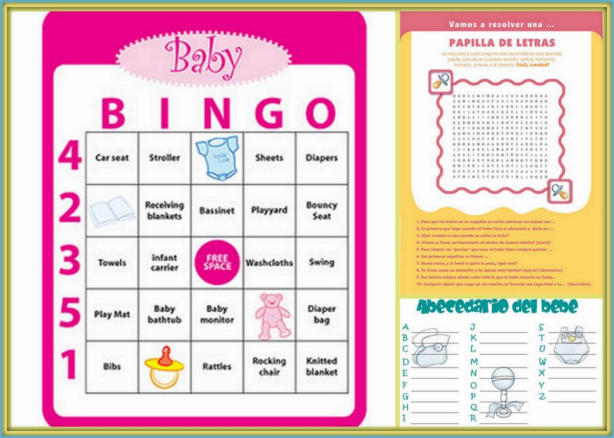 Imagenes De Juegos Imprimibles Para Baby Shower Hermosos Modelos