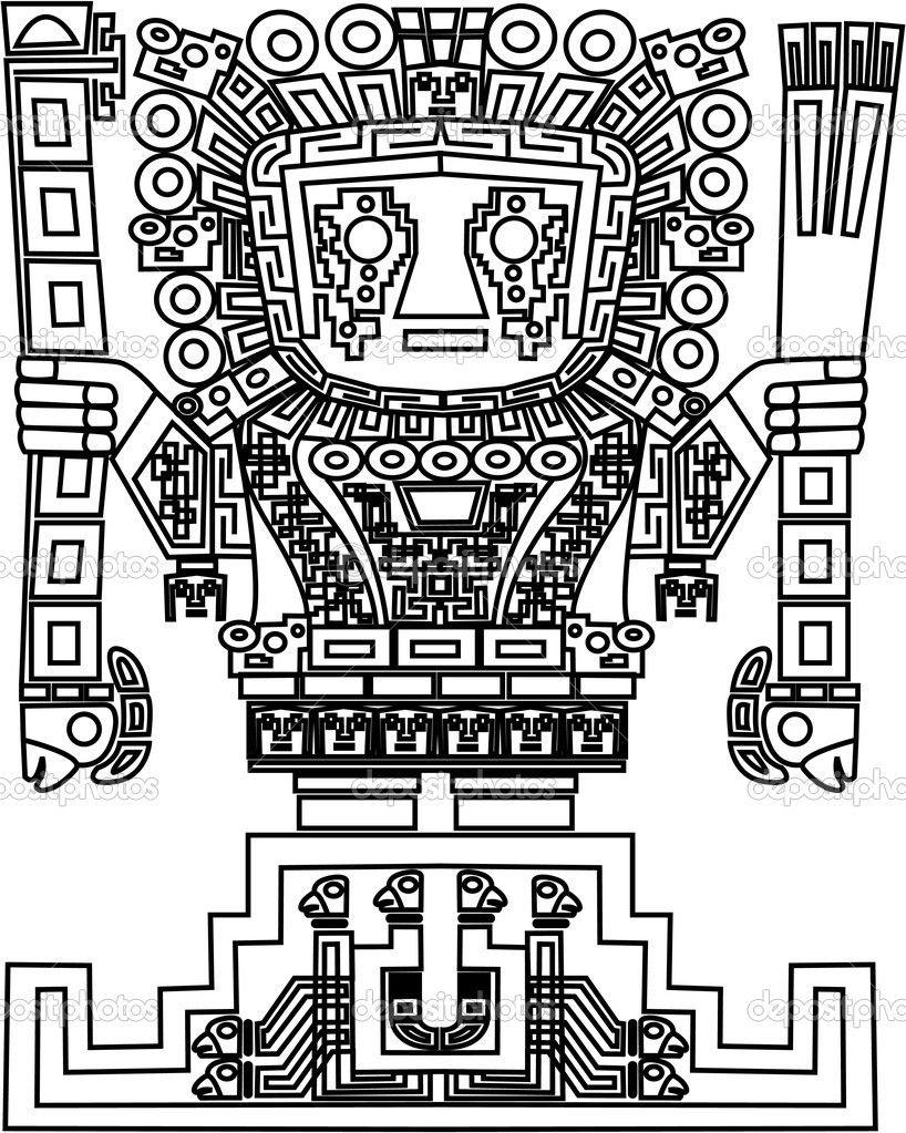 Coloring page Ancient Americas Moche